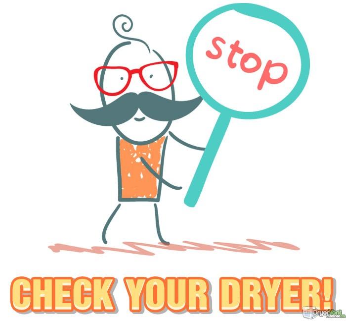 check your dryer fire hazard