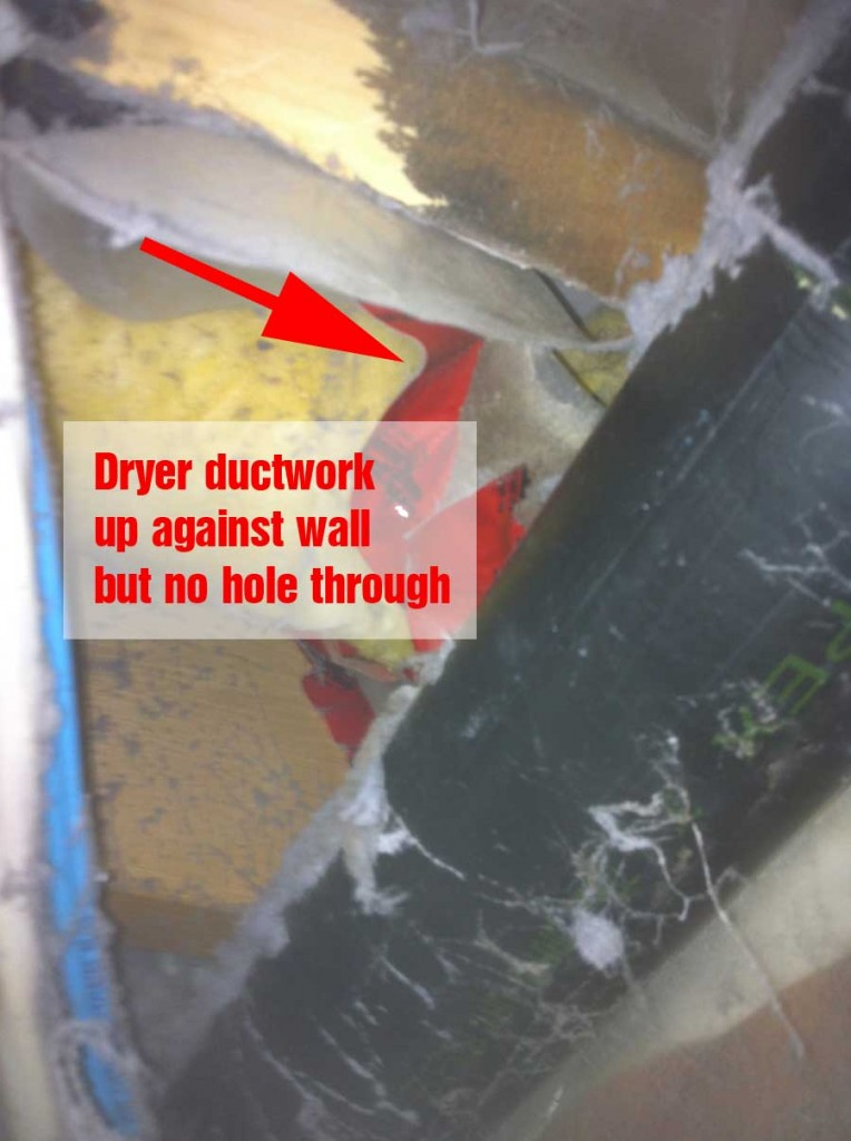 dryer not vented properly